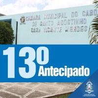 Câmara do Cabo antecipa segunda parcela do 13º salário dos servidores