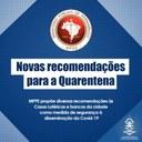 Ministério Público faz recomendações com medidas de segurança no combate à disseminação da Covid-19